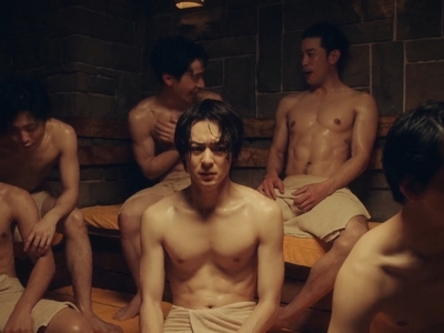 There's a quick sauna scene in A Man Who Defies the World of BL.