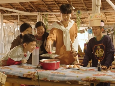 Tian is a good teacher to the children of the village.
