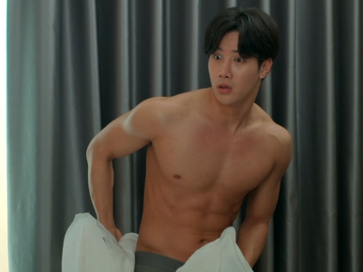Jun Cheng gets shirtless in Because of You.