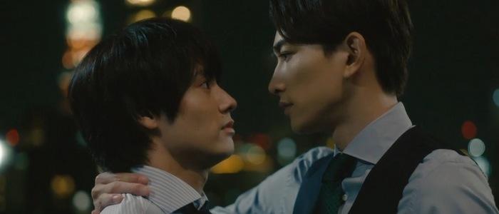 Adachi and Kurosawa have an office romance in the Japanese BL drama Cherry Magic.