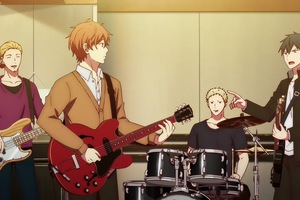 Mafuyu is closer with his band in the anime.