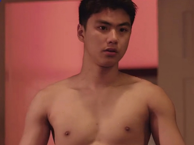 Thun gets shirtless in Episode 1 and Episode 2 of He's Coming to Me.