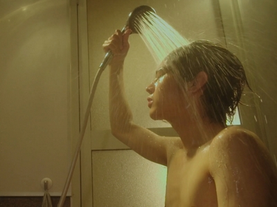 Nagisa gets shirtless and takes a shower in Episode 2.