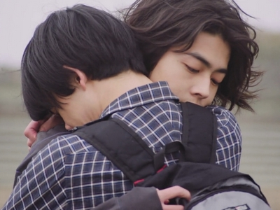 Shun and Nagisa share an embrace in the ending of His: I Didn't Think I Would Fall in Love.