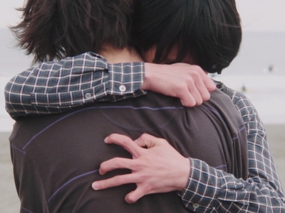 Shun and Nagisa hugged each other in the ending of His: I Didn't Think I Would Fall in Love.