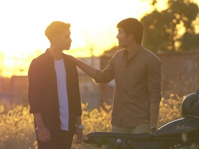 Dan and Khet agree to ride off to the sunset together in the Hometown's Embrace ending.