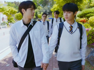 Tae Kyung and Shin Woo become an out couple at school.