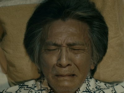 Gamoda cries because he has one last regret before dying.