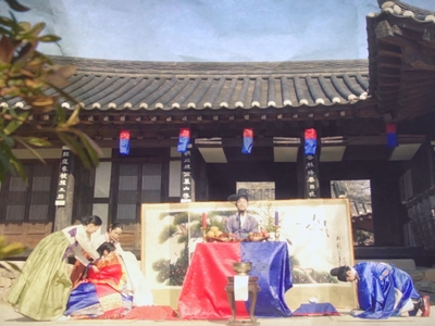 We never see the wedding take place in Nobleman Ryu's Wedding.