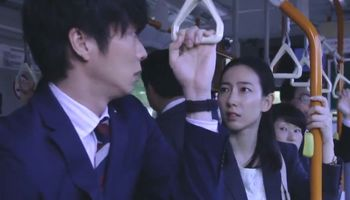 The lady on the bus reacted differently in Ossan's Love Japan.