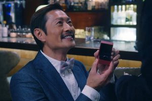 In Ossan's Love Hong Kong, KK proposes to Tin in a restaurant.
