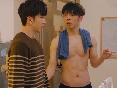Edan Lui gets shirtless multiple times in Ossan's Love Hong Kong.