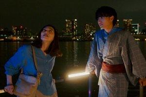 Utamaro proposes to Choko in the Ossan's Love movie.