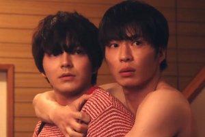 Haruta and Maki share an intimate hug in Ossan's Love Japan.