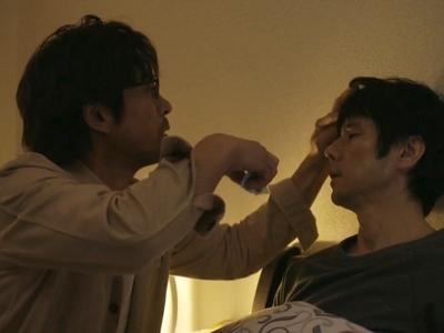 Kenji takes care of Shiro when he's sick.
