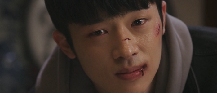 Kang Joo was an emotionally complex character with expressive eyes.