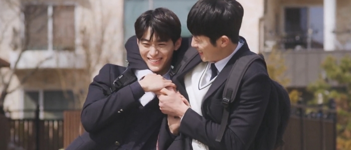 Tae Joo and Kang Gook are high school friends who develop feelings for each other in Where Your Eyes Linger.