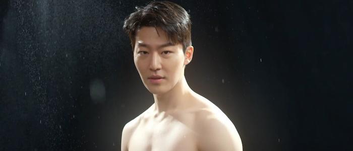 Hong Seok does a shirtless photo shoot.